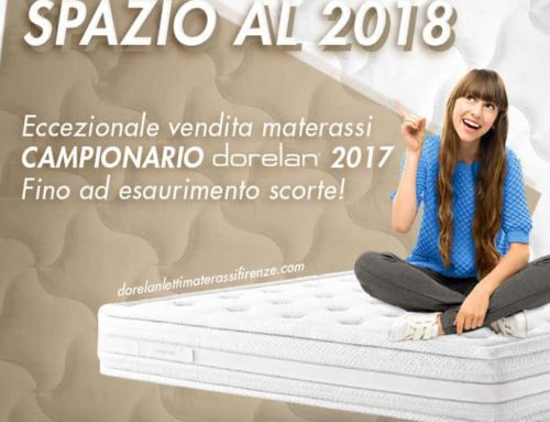 Eccezionale vendita materassi CAMPIONARIO Dorelan 2017