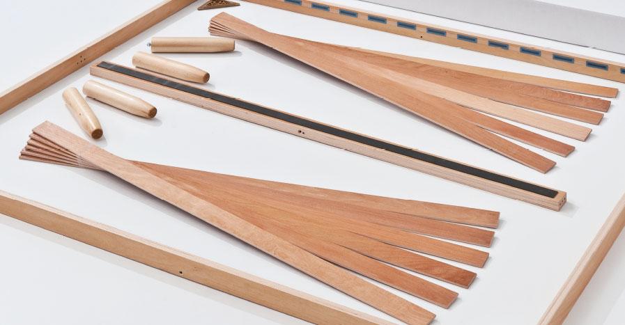 rete componibile in legno