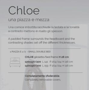 letto ad una piazza e mezza Chloe v&nice scheda tecnica