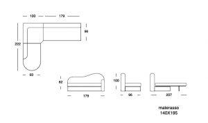 scheda tecnica divano letto Gigolò 1